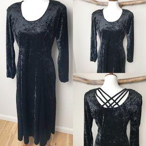 NWT Vintage Velvet Maxi Dress